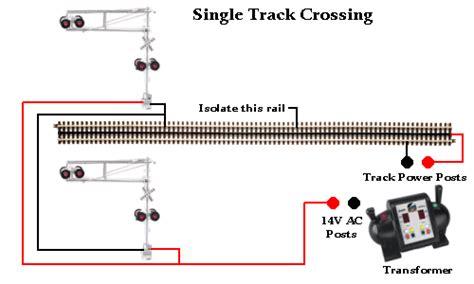 Train Track Wiring Railroad Crossing Signal Single