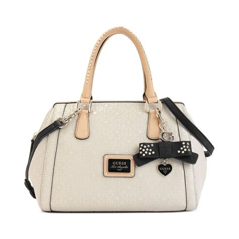 Guess Jordyn Satchel White guess handbag catalogue 2017 handbags 2018