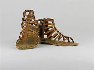 Chaussures Atelier Voisin / SPARTE / Sandales Cognac Cuir ...