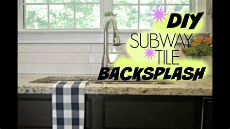 diy kitchen backsplash tile diy subway tile backsplash tutorial 6816