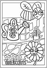 Daisy Coloring Scouts Sheets Daisies Scout Scribd Worksheets Pdf Flower Tula Sheet sketch template