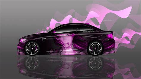 bmw  coupe side anime girl aerography car