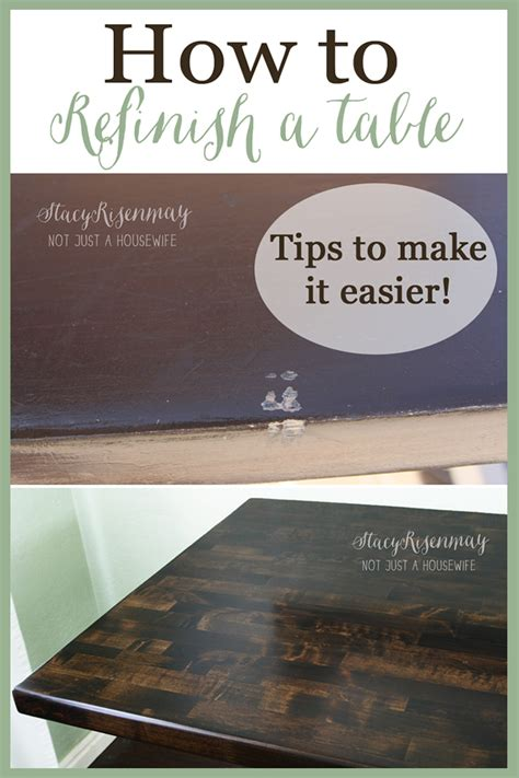 How To Refinish A Table  Not Just A Housewife