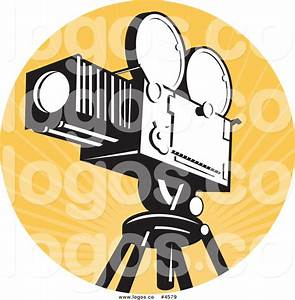 Royalty Free Vintage Movie Film Camera Logo by patrimonio ...