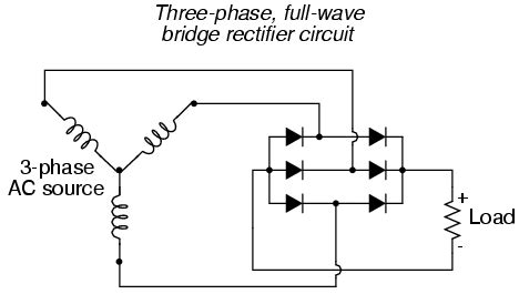 diodes   standard  phase  ac connection