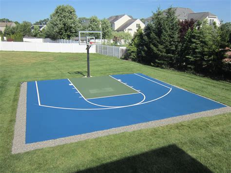Half Court Basketball Dimensions For A Backyard - basketball court dimensions home court hoops