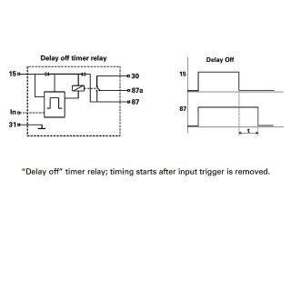 Durite Programmed Delay Off Timer Relay