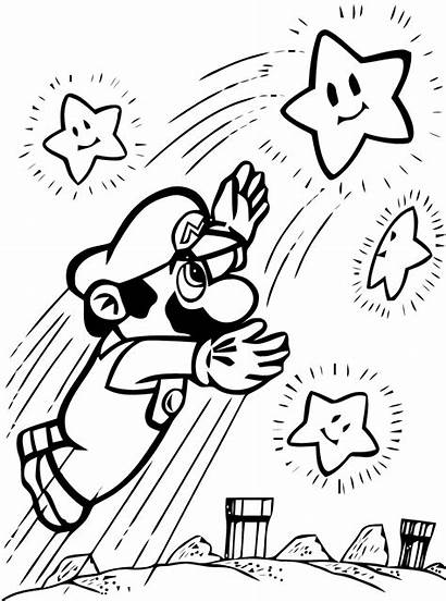 Mario Bros Coloring Super Pages Printable Characters