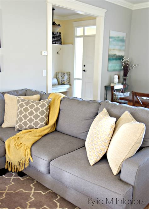 How To Make A Gray Paint Colour Feel Warm Shown In Living