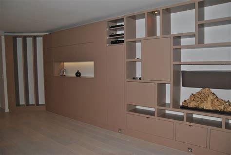 Meuble Rangement Bureau Design - conception d un mur bibliothèque dans un appartement à