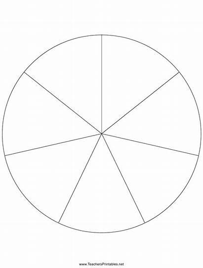Pie Chart Blank Slices Pdf Printable Template