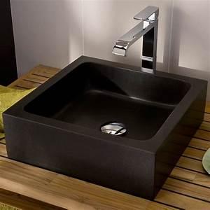 Lavabo Rectangulaire étroit : vasque poser stone lapeyre vasque et robinet vasque ~ Edinachiropracticcenter.com Idées de Décoration