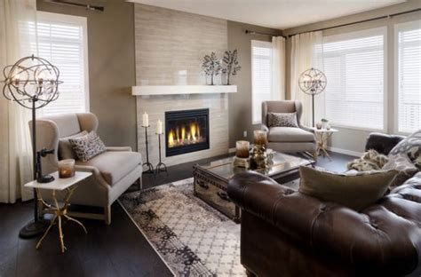 brown leather sofa decorating ideas give your living room an elegant look with a brown leather