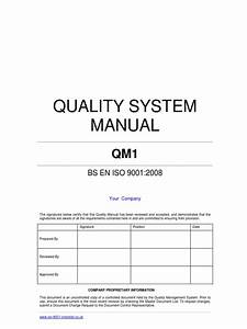 iso 9000 quality manual template With supplier quality manual template