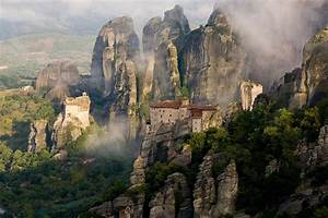 THE SURREAL SCENERY OF METEORA AND THE MONASTERIES AMONG ...