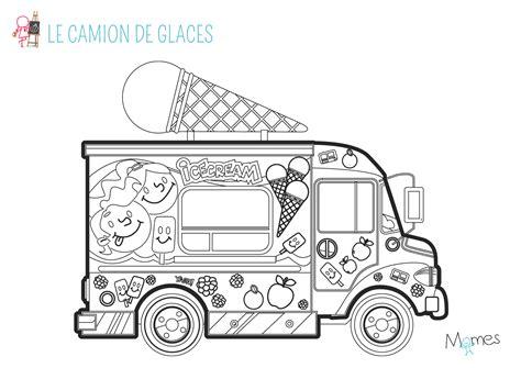 jeux de cuisine de glace coloriage le marchand de glace momes