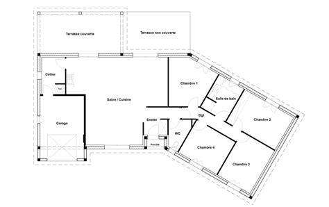 maison plain pied 3 chambres plan maison plain pied 1 chambre facade rez de chaussee