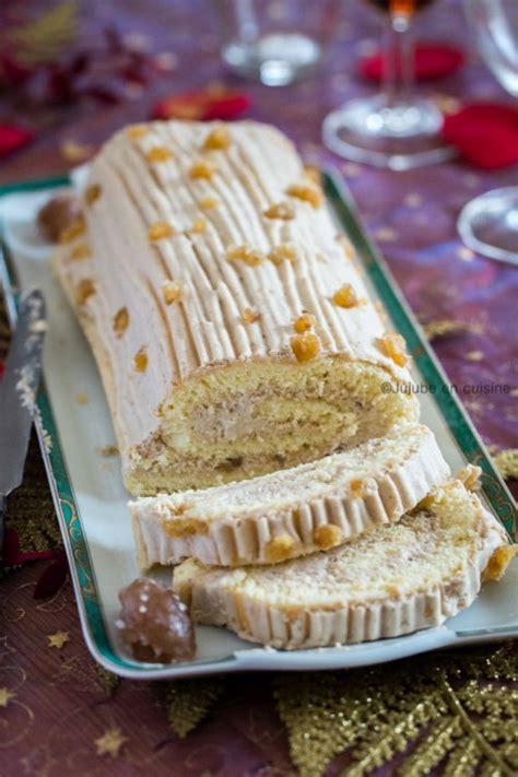 hervé cuisine buche marron bûche pâtissière à la mousse de crème de marron gâteau roulé