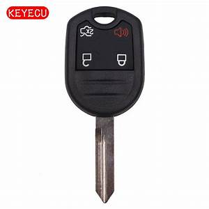 Keyecu Replacement Remote Key Shell Case Fob 4 Button for Ford Expedition F250 350 Mustang 2011 ...