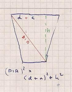 Binomialverteilung Berechnen : seitenl nge gleichschenkliges trapez mathelounge ~ Themetempest.com Abrechnung