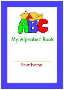 Printable My Alphabet Book Cover