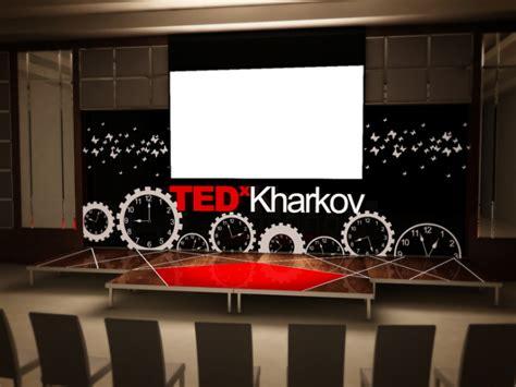 tedx stage design  vira aharkova  coroflotcom