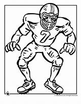 Coloring Football Pages Player Activities sketch template