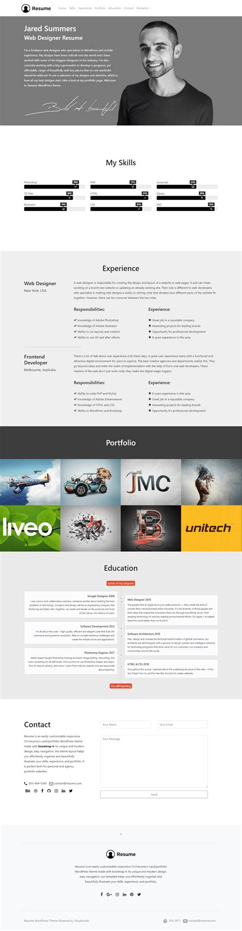 Theme Cv by Best Cv Theme To Illustrate Your Resume