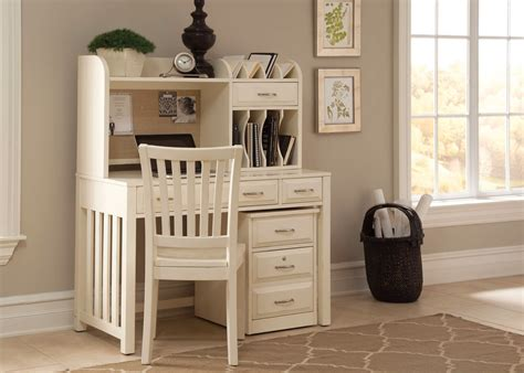 hampton bay antique white finish home office desk