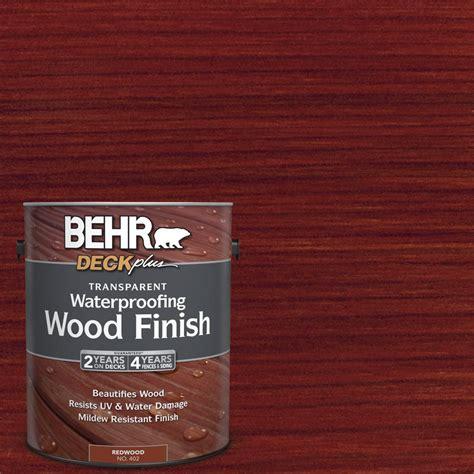 behr deckplus  gal redwood transparent waterproofing
