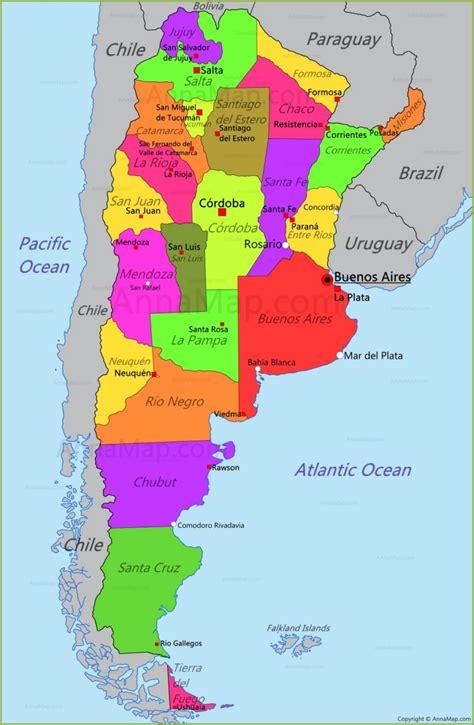 argentina map map  argentina annamapcom