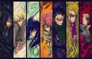 Fairy Tail - Rogue, Sting, Natsu, Gajeel, Laxus, Cobra and ...