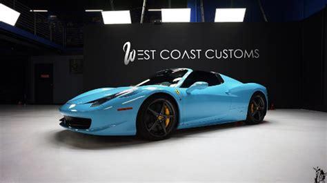 Ferrari roadster light blue cars metallic auto automobile. Kylie Jenner's Blue Ferrari 458 Spider! | Celebrity Cars Blog
