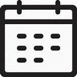 Icon Calendar Vector Week Reminder Appointment Schedule