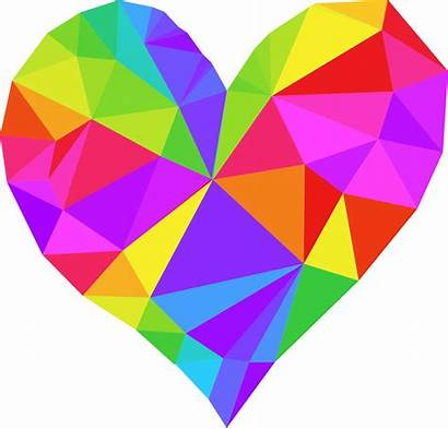 Clipart Heart Colorful Low Poly Disorder Fallot