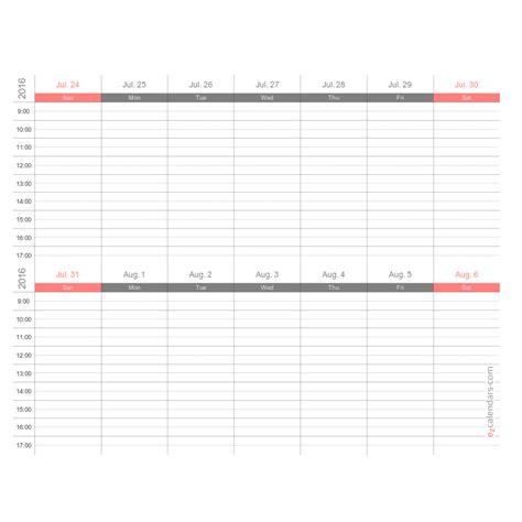 weeks appointment schedule template weekly planner ezcalendars