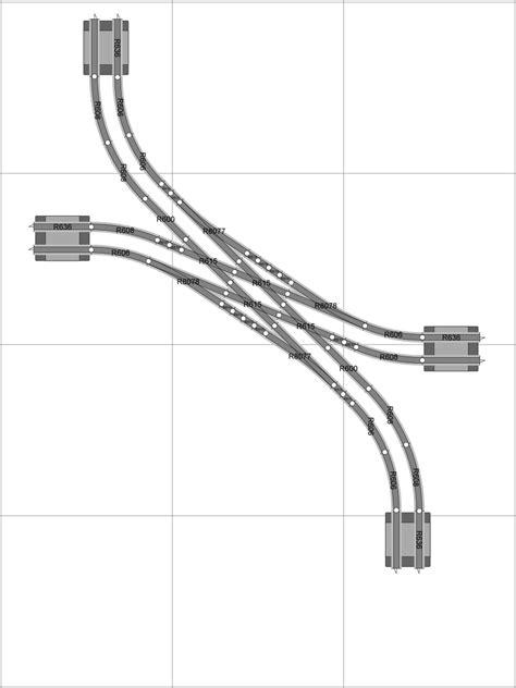 Track geometries for 00-Gauge Hornby SeTrack: Jon's Model