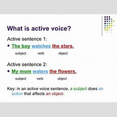 Present And Past Passive Voice