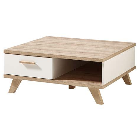 bout de canapé m générique table basse oslo 80 cm chêne blanc table basse