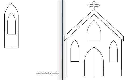 Paper church template costumepartyrun best photos of cardboard church template free paper maxwellsz