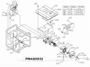 Powermate Formerly Coleman Pma505622 Parts Diagram For