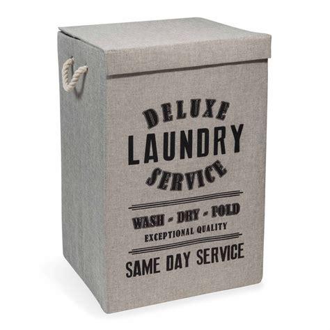 panier 224 linge en tissu laundry deluxe maisons du monde