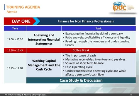 For Finance Professional by Ipdc Finance For Non Finance Professionals