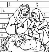 Jesus Coloring Pages Manger Christmas Mary Joseph Printable Getcolorings Precious Moments Happy Birthday Getdrawings Colorings Familyfriendlywork Guardado Desde sketch template
