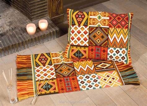 kit canevas tapis ambiance africaine de vervaco canevas