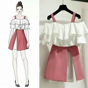 ulzzang style fashion drawing dresses korean fashion