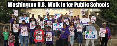 washington schools walk educators parents wednesday members students february join community please