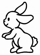 Coloring Rabbit Pages Children Printable Adult Justcolor sketch template