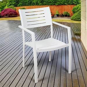 Atlantic, Jordan, White, Stackable, Aluminum, Outdoor, Dining, Chair, 4-pack, -sc, 4portnelch, Wht