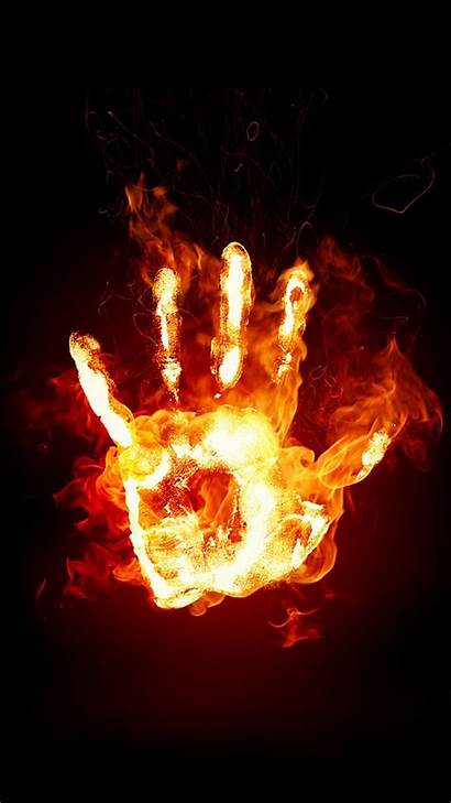 Fire Wallpapers Skull Hand Stays Note Wallpaperplay